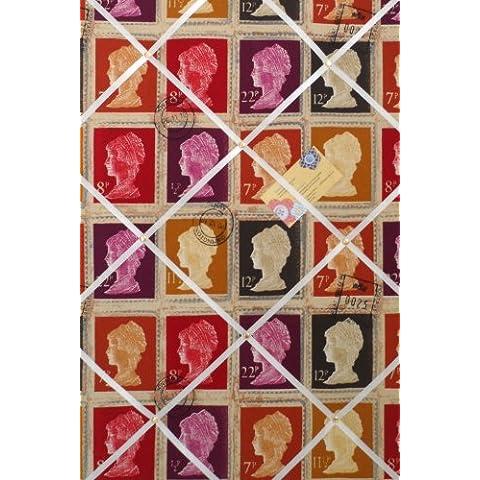 Grande Verticale prestigiosi Mulberry prima classe timbro a mano Crafted tessuto avviso/Pin/Memo Board - Avviso Stamp