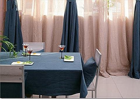 Nappe Tissu en coton et lin Table haut de gamme Solide Couleur douce antipoussière souple Accueil Rectangulaire , 1 , 135*220cm