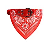 Keysui Foulard Col Bandana Triangle pour Chien Chat animaux Collier reglable