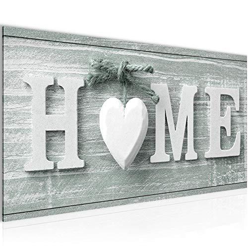 Bilder Home Herz Wandbild Vlies - Leinwand Bild XXL Format Wandbilder Wohnzimmer Wohnung Deko Kunstdrucke Grün 1 Teilig -100{9e5660148b9b9f06cf88e21633c6852ed719007ca5f4d0a4431b3129cef6a576} MADE IN GERMANY - Fertig zum Aufhängen 504412c