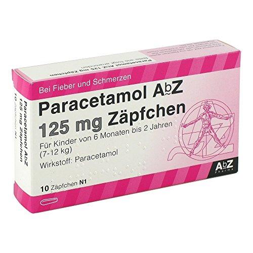 PARACETAMOL AbZ 125 mg Zäpfchen 10 St Suppositorien