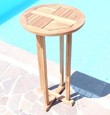 BAR-SET - TEAK Bartisch Bistrotisch Stehtisch mit 2x Barhocker Holz geölt Modell: BIMA von AS-S von As-s