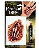 Offene Hand Tattoo mit Kunstblut