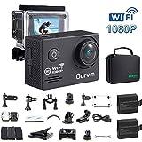 FHD 1080P Action cam WIFI Unterwasserkamera Digital Wasserdicht 30M Action Kamera mit Transporttasche und 18PCS Zubehör Kit, Helmkamera für fahrrad,Kinder,motorrad,auto,helm,drohne,kopf,unterwasser