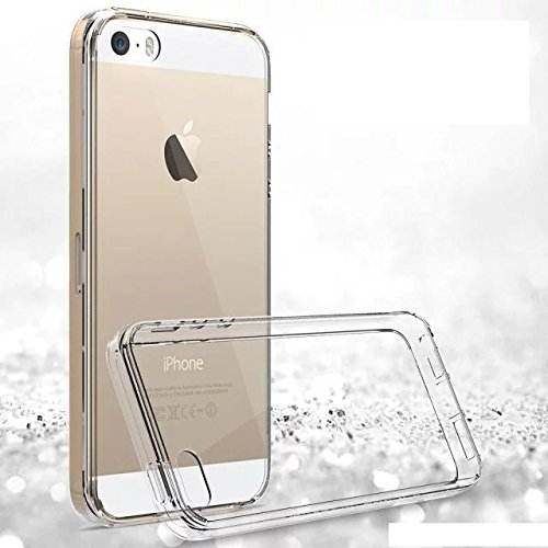 Apple iPhone 5SE Fall, IVSO TPU Bumper mit Crystal Clear PC Rückseite [Drop Schutz/Shock Absorption Technology] für Apple iPhone 5SE Handy,  - farblos, For iPhone 5SE - farblos