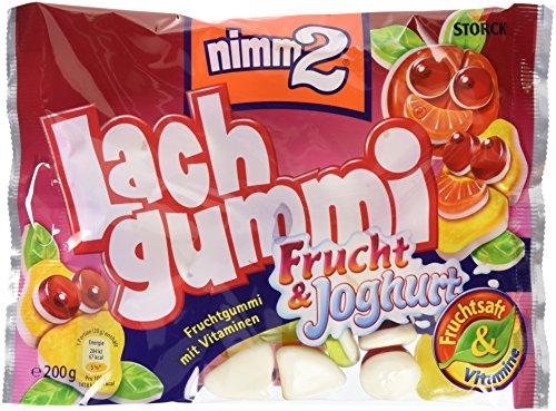 nimm2 Lachgummi Frucht & Joghurt – Spaßiges Fruchtgummi mit Vitaminen – 18er Pack (18 x 200g Beutel)