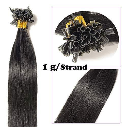 Extension capelli veri cheratina 1 grammo 50 ciocche nero 16