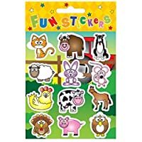 HENBRANDT 24 Sheets of 12 FARM STICKERS