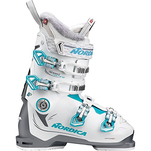 Nordica Damen 050H34-223 Skischuh Speedmachine 95 W Anthrazit/Weiß/Hellblau - MP 26,5