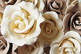 Zucchero rosa di buona qualità con colori filo decorazione commestibile torta nuziale di compleanno (Avorio, Piccolo)