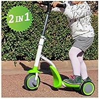 Apolyne Patinete-Triciclo Boost Scooter Junior 2 en 1, 3 Ruedas, Patinete para Niño