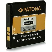 Batería BP-6M   BP6M para Nokia 3250   3250 XpressMusic   6151   6233   6234   6280   6288   9300   9300i   N73   N73 Music Edition   N77   N93   N733 y mucho más… [ Li-ion, 1200mAh, 3.7V ]