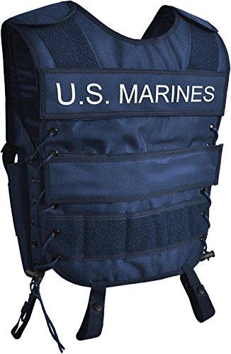 Taktische SWAT Weste mit Pistolenholster und abnehmbarem Schriftzug auf dem Rücken U.S. MARINES