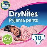 Huggies DryNites Pyjama Pants for Girls, Age 4-7 - 10 Pants Total