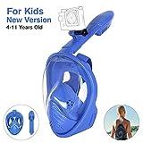 Unigear Tauchmaske, Faltbare Schnorchelmaske Tauchermaske Vollgesichtsmaske, mit 180 Grad Blickfeld und Kamerahaltung, Anti-Fog Anti-Leck, für Erwachsene und Kinder