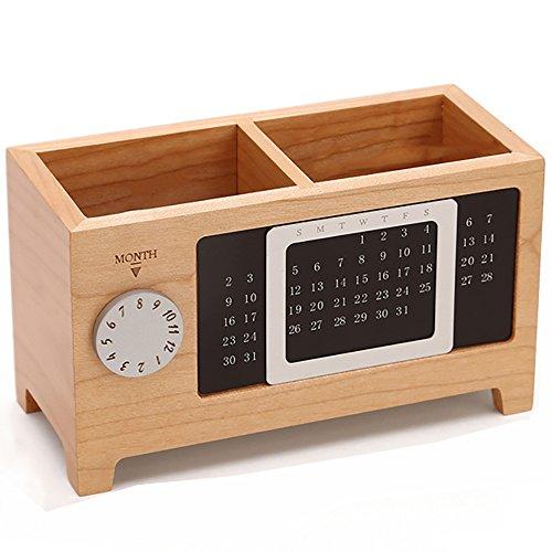 Nianxinan moda ufficio di legno quadrato forniture cancelleria finitura ornamenti di stoccaggio del desktop studio multi-funzione portapenne
