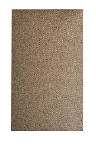 Flachgewebe Teppich Sahara - robuste Kunstfaser in edler Sisal-Optik | schadstoffgeprüft pflegeleicht strapazierfähig | für Wohnzimmer Schlafzimmer Büro, Farbe:Cognac, Größe:60 x 120 cm