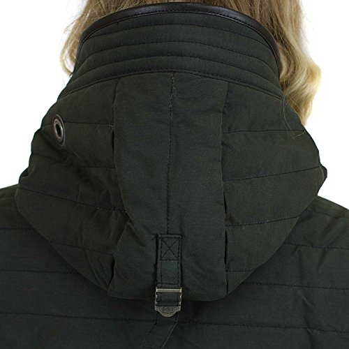 khujo Damen Mantel Daily Parka Kapuzenmantel Kurzmantel gefütterte Winterjacke 200 black