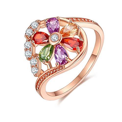 Aligeya Frauenringe, farbige Zirkonringe, volle Diamantringe.