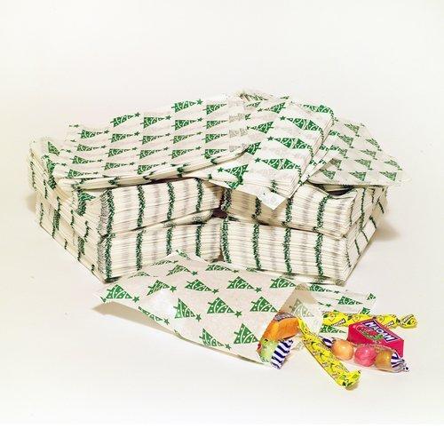 Paper Bags - Confezione di 100 sacchetti di carta, dal design natalizio a forma di albero di Natale, 12,7 x 17,78 cm