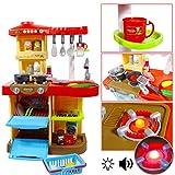 """deAO Kinder-Küchenspielset """"My Little Chef""""(""""Mein kleiner Koch"""") mit 30-teiligem Zubehör in den Farben Rot oder Pink erhältlich - 2"""