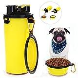 Global Brands Online Botella de Agua Portã¡Til Perro de la Botella del Agua de la Comida Perro del Animal Domã©Stico Perro con la Taza Perro