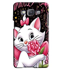 Blue Throat Super Cute Cat Printed Designer Back Cover For Samsung Galaxy A5