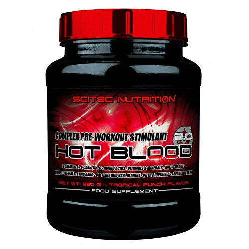 Scitec nutrition hot blood 3.0 41 servings pre allenamento/booster, 820 g