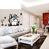 YYL Europäische Dekorative Gartenmauer Uhr,Mode Wohnzimmer Kunst  Uhr,Moderne Minimalistische Kreative Uhr