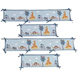Bedtime Originals Two By Two Noahs Ark 4 Piece Crib Bumper