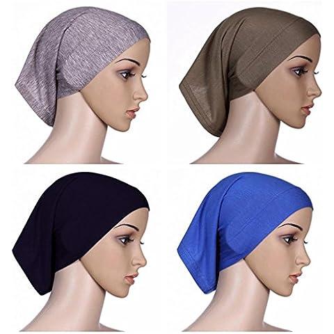 Ksweet 4 Pack Hijab Style Sciarpe Donna Cappellini Sciarpa Bandana Turbante Cofano (multicoloured-01) - Sport Bandana Per Cani