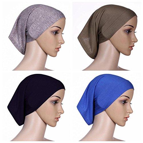 BaiTe Unter Kopftuch Hijab Kopftücher Hijab Kopftuch Damen Unter Schal 4 pcs