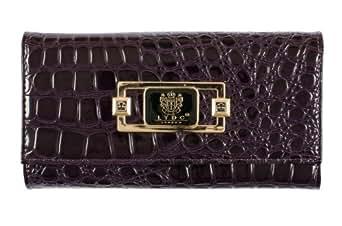 Womens Ladies LYDC Designer Patent Croc Purple Purse Clutch Wallet Bag P63 By Classyshades