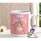 Tied Ribbons Friendship Gift For Girls Boys Girl Friend Best Friend Printed Coffee Mug(325 Ml) And Wooden Tag