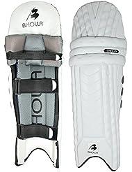 Espinilleras para bateador de críquet Pazz, Test estándar, peso ligero del tamaño de la, diseño único, Hombres diestros