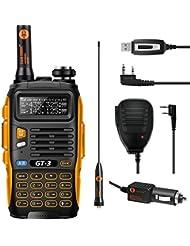 Baofeng PoFung BF GT-3 MARK II Versión Transceptor Walkie-Talkie Dual-Band Radio DTMF RX CTCSS / DCS OACO Radio de Dos Vías, Chipsets Mejorada, ABS Marco (1 * Radio + 1 * Altavoz Remoto + 1 * Cable de Programación)