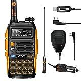 Baofeng GT-3 Mark II Versión Transceptor Walkie-Talkie Dual-Band Radio DTMF RX CTCSS/DCS Radio (GT3 con Altavoz y Cable de programación)
