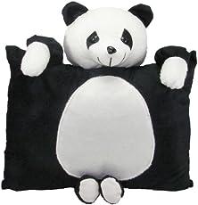 Tickles Stuffed Soft Plush Toy Kids Birthday Black Panda Cushion 33 cm