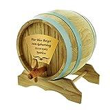Das Eichen-Holzfass 2 Liter inkl. persönlicher Gravur - Das individuelle Geschenk zum Aufbewahren von Wein, Bier...
