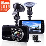 Car Camera Dash Cam Front and Rear Dual Camera, Superior Night Vision 1080P