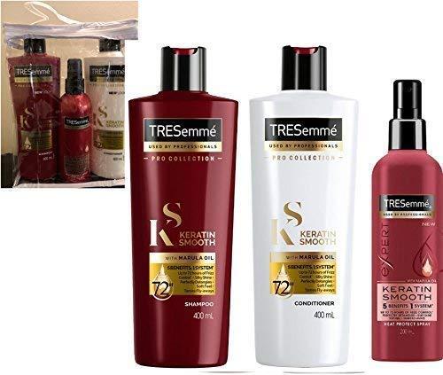 Tresemme Keratin Lisse Ensemble Cadeau Shampooing & Après-shampooing & Spray éclat - Pour usage Après Salon KERATIN Traitements