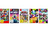 Super Mario Odyssey + Just Dance 2018 + Dragon Quest Builders + 1-2-Switch + Splatoon 2 [Nintendo Switch]