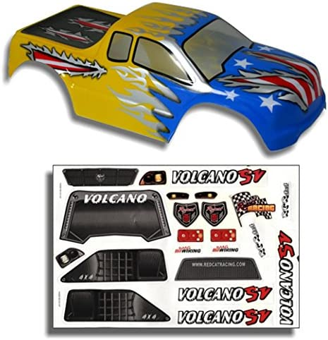 Redcat Racing Truck Body Bleu et Jaune (1/10 Scale) | Luxuriante Dans La Conception
