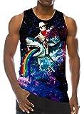 Die besten T Shirts Lustige T-Shirts - Chicolife 3D Katze auf Shark Print Lustige Muster Bewertungen