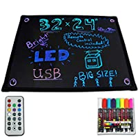 Flashing Boards LED Light-Up Dry Erase Menu Sign Message Writing Neon Board 60x80