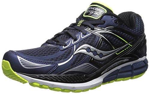 Saucony Echelon 5, chaussures de sport homme NAVY/BLACK/CITRON