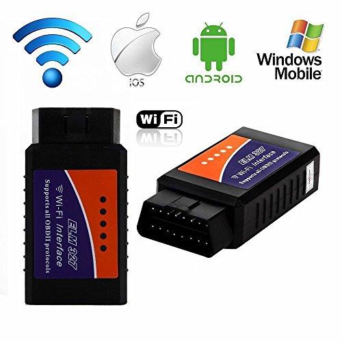 KASER OBD2 ELM327 WLAN-Leser Code von Auto und Motorrad-Diagnose-Instrument-Reset Scanner WLAN OBD-II für iPhone, iPad, Android Windows