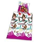 Herding 462026050412 Shake it up Bettwäsche, 80 x 80 cm + 135 x 200 cm mit Knopfleiste , Biber