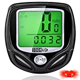Bike Computer Speedometer Wireless Water-proof Bicycle Odometer Cycle Computer Multi Function with Large