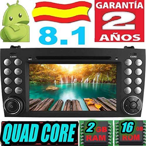 Mercedes Benz SLK R171 W171 (SLK200 SLK220 SLK240 SLK270 280 320 350 430 500 550 SLK55 SLK63) Android 8.1 Quad Core 2GB RAM 16 GB ROM GPS Radio Coche DVD AUTORADIO WiFi 3g 4g navi navegador 2000-2011